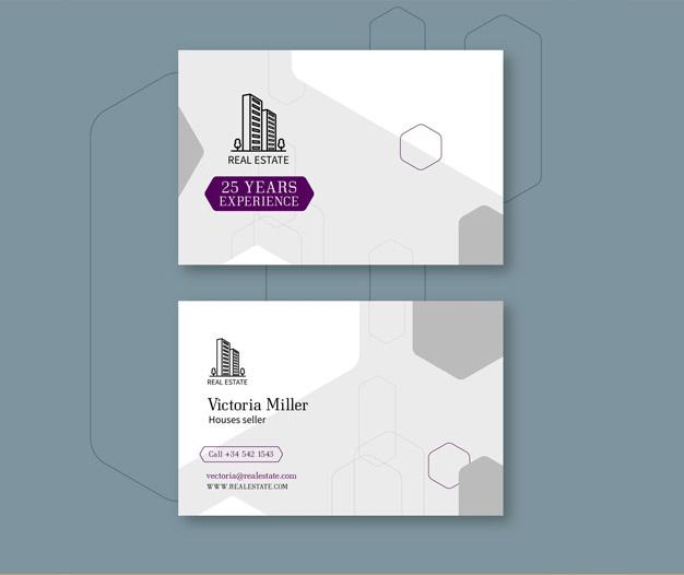 Plantilla tarjetas inmobiliaria