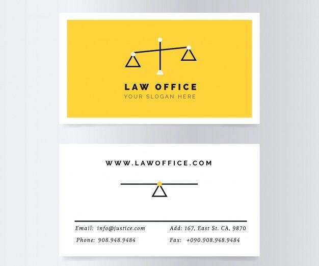 Plantilla tarjetas presentacion abogacia 18