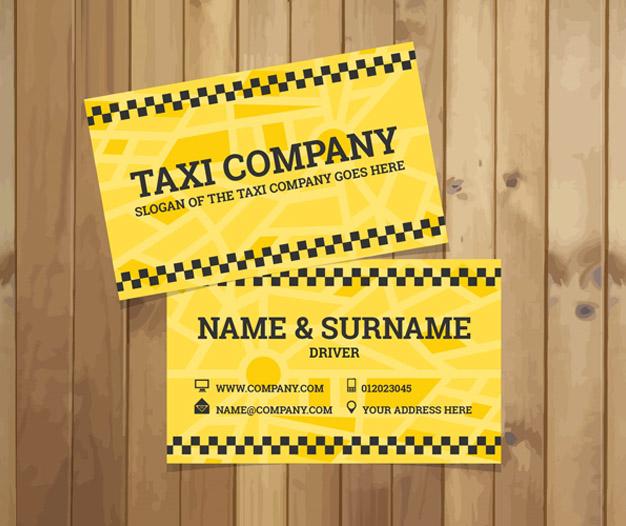 Plantilla tarjetas presentacion taxista