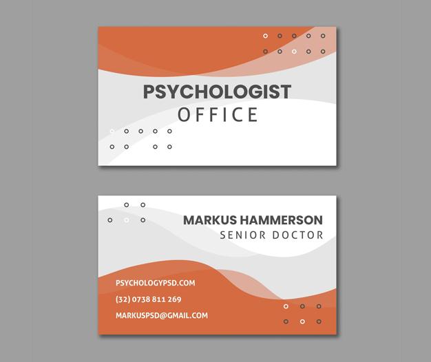 Plantilla tarjetas psicologos salud mental