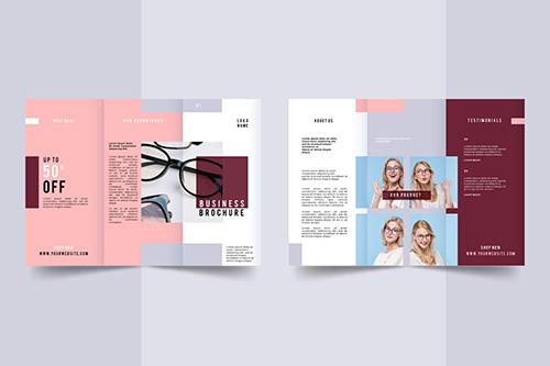 Plantillas de diseños folletos 6 caras