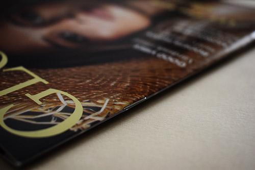 Revistas impresas con grapas