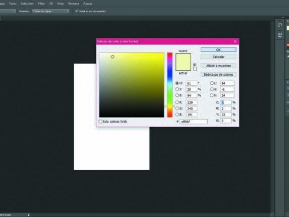 Seleccionador de color Photoshop
