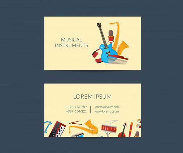 TArjetas de presentacion musicos charanga