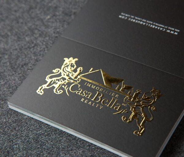 Tarjetas con relieve oro o plata