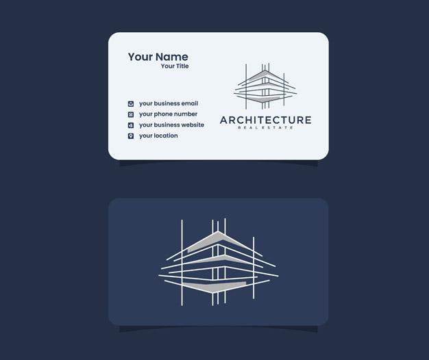 Tarjetas de negocios arquitectos plantilla de diseño
