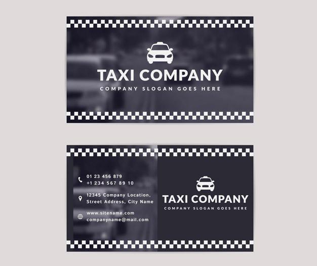 Tarjetas de negocios taxi