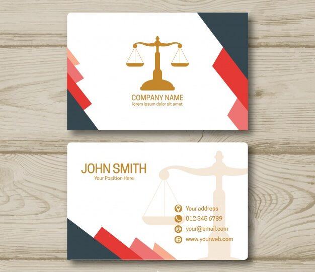 Tarjetas de presentacion abogados 14