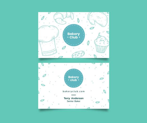 Tarjetas de presentacion pasteleria
