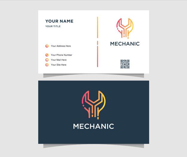 Tarjetas de presentacion taller mecanico diseños