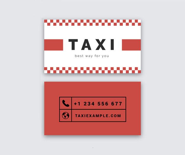Tarjetas de presentacion taxi