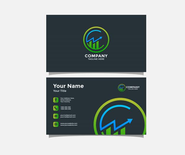 Tarjetas de visita contabilidad diseño