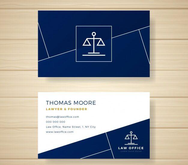 Tarjetas de visita de abogados diseño 9