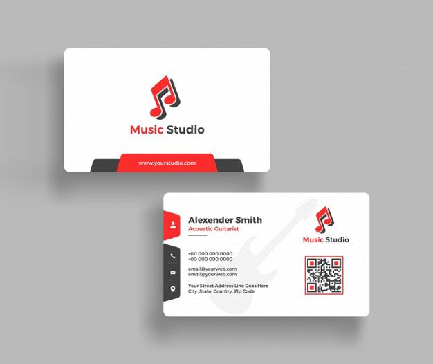 Tarjetas de visita para musica estudio