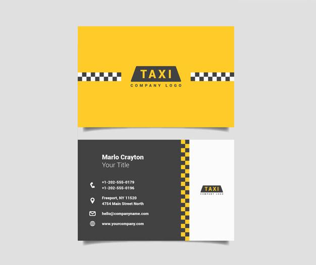 Tarjetas de visita taxi
