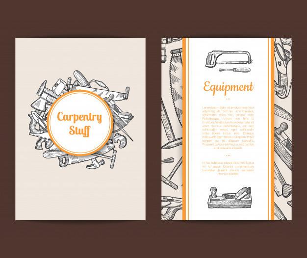 Tarjetas para carpinteros diseños