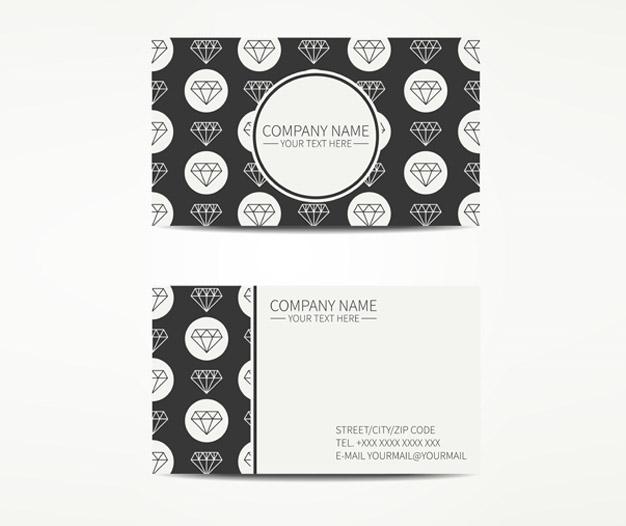 Tarjetas para joyeria diseño