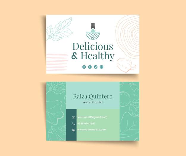 Tarjetas presentacion nutriologo