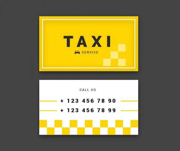 Tarjetas presentacion para taxi