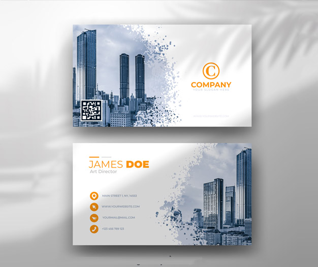 Tarjetas visita negocio de construccion diseños