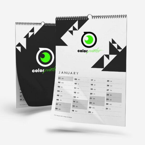 calendarios de pared con espiral