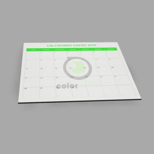 calendarios de escritorio. Calendario de sobremesa para tomar notas completamente personalizado. En forma de bloc de gran tamaño es el regalo de empresa perfecto así como un material de oficina personalizado muy útil.