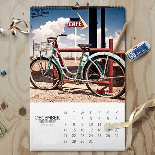 Imprimir calendarios wire-o personalizado de alta calidad.