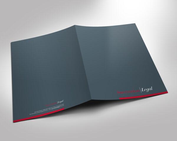 Carpetas para abogados impresas a todo color y fabricadas en materiales de la más alta calidad.