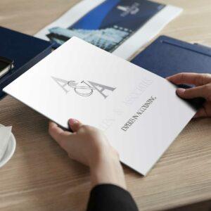Carpetas de presentación de alta calidad para empresas y negocios.