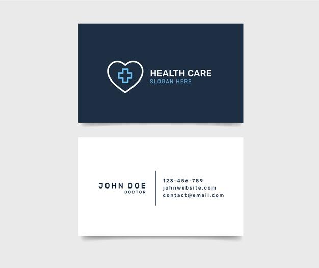 diseño para tarjetas de medicos