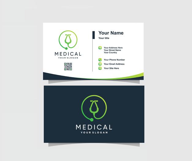 diseño tarjetas de presentacion medicos