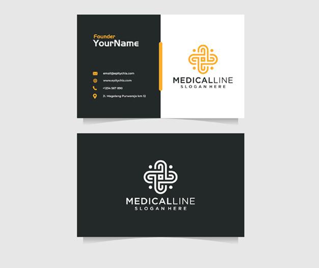 diseño tarjetas presentacion medicos