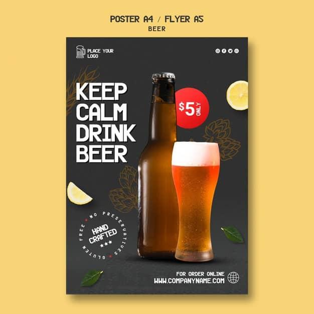 flyers a5 cerveza