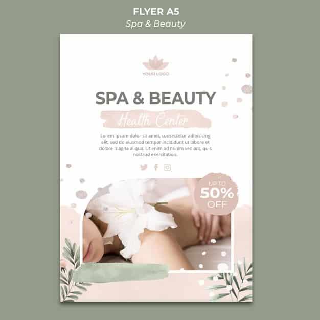 flyers a5 spa y belleza