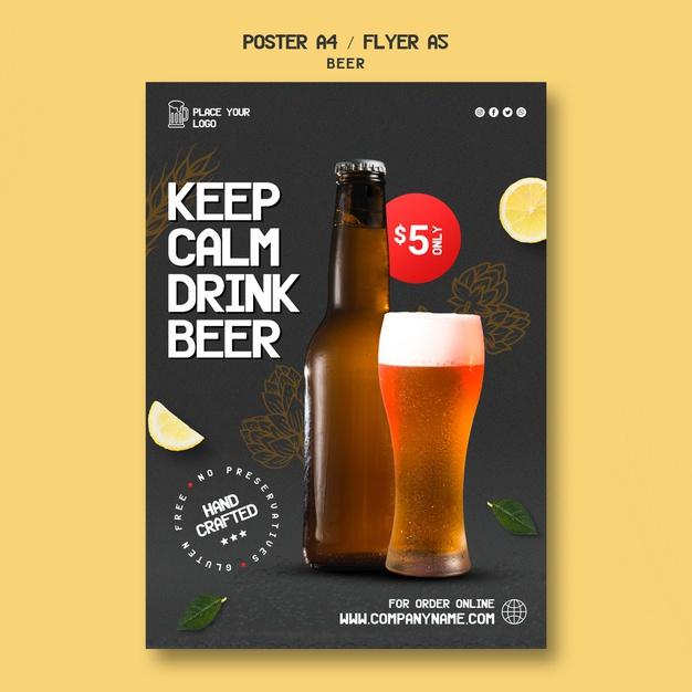 flyers a6 cerveza