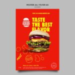flyers a6 hamburguesa