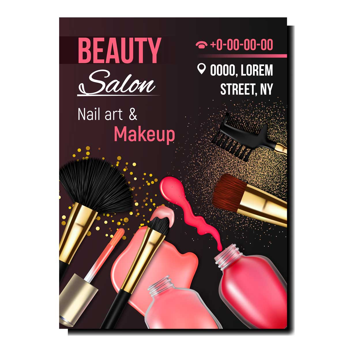 Flyers de maquillaje de alta calidad para empresas y profesionales.
