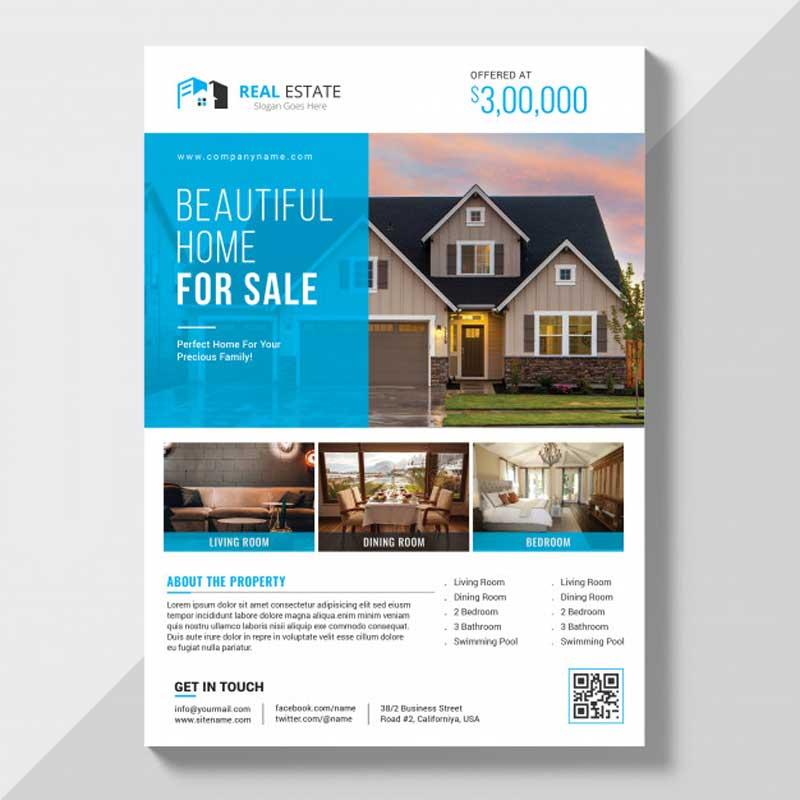 Diseño de flyers de inmobiliaria profesionales.