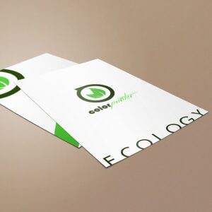flyers papel reciclado