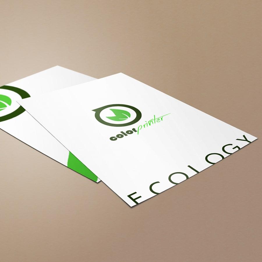 flyers papel reciclado
