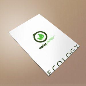 flyers en papel reciclado ecológico