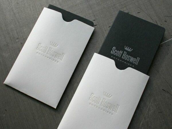 Fundas para tarjetas de visita personalizadas, de alta calidad, para guardar tarjetas personales de negocios.