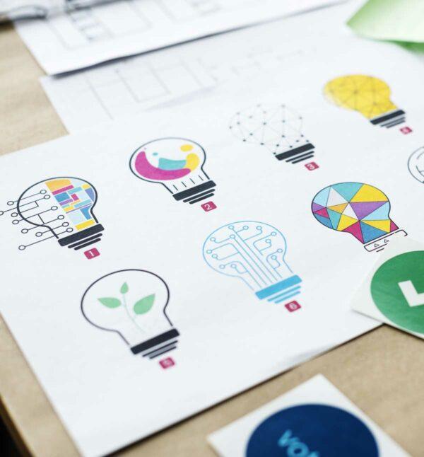 Diseño profesional de imagen corporativa para empresas y organismos.