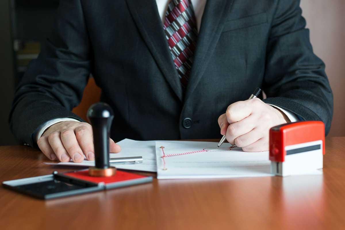 Imprenta para notarios y profesionales del derecho.