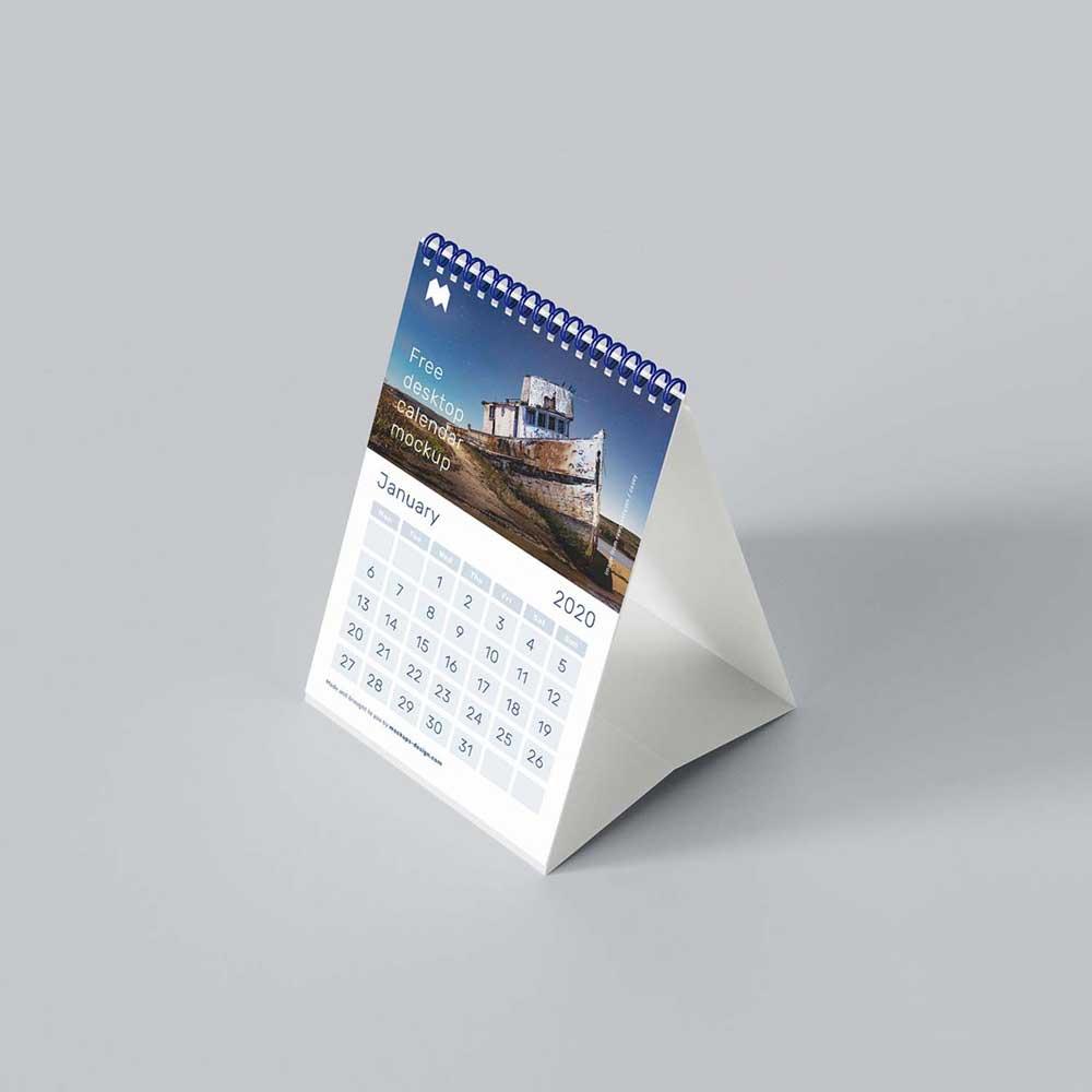 Impresión de calendarios de sobremesa personalizados.