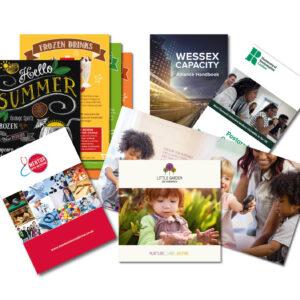 Impresión de brochures de alta calidad para empresas, negocios y profesionales.