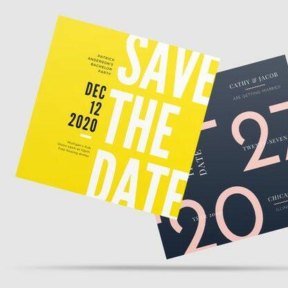 Diseño para flyers en formato cuadrado