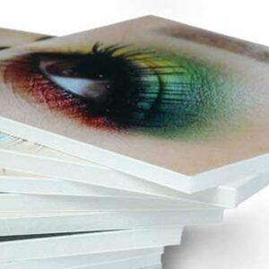 Imprimir Forex PVC de alta calidad y otros materiales rígidos.