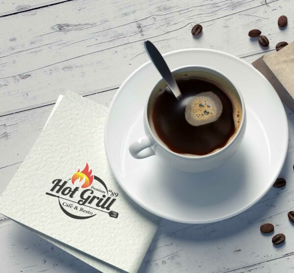 Impresión de servilletas personalizadas para bares y restaurantes y negocios de hostelería.