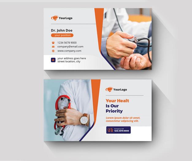 impresion tarjetas de visita medicina